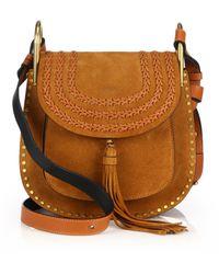 chloe imitation handbags - Chlo�� Small Hudson Suede Shoulder Bag in Blue | Lyst