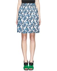 Prabal Gurung Rose Embroidery Flare Skirt - Lyst