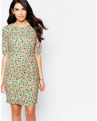 Sugarhill - Shift Dress In Pear Print - Green - Lyst