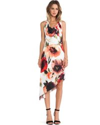 Haute Hippie Asymmetrical Dress - Lyst