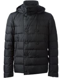 Herno Double Breasted Padded Jacket - Lyst