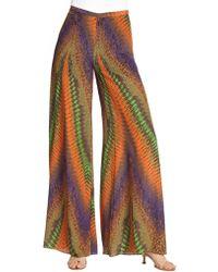 M Missoni Silk Desert Horizon Pants - Lyst