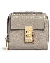 Chloé 'Drew' Leather Ziparound Fold Wallet - Lyst
