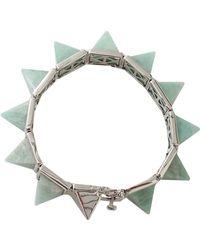 Eddie Borgo Gemstone Pyramid Bracelet - Lyst