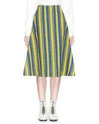 Angel Chen - Barcode Stripe Hopsack A-line Skirt - Lyst