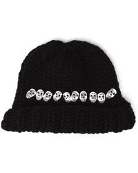 Wool And The Gang - Knitted Skull Beanie Hat - Lyst