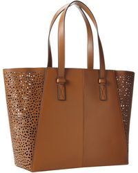 Vince Camuto Jace Perforated Tote - Lyst