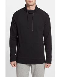 Calvin Klein Cowl Neck Sweatshirt black - Lyst