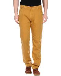 Levi's Denim Trousers yellow - Lyst