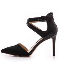 Steven By Steve Madden Alicia Haircalf Pumps Black - Lyst