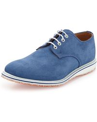 Walk-over Kerouac Laceup Suede Oxford Cobalt - Lyst