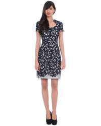 Kay Unger Lace Embroidered Daytime Dress - Lyst