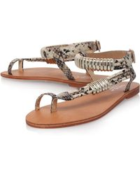 Carvela Klipper Flat Sandals - Lyst