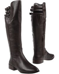 BCBGMAXAZRIA - Over-The-Knee Buckle-Strap Flat Boots - Lyst