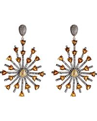 Carole Shashona - Women's Sun Sparkler Earrings - Lyst