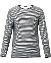 JW Anderson - Chequered-Knit Sweater - Lyst
