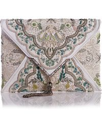 Marchesa - Elisa Embroidered Irish Lace Clutch Bag - Lyst