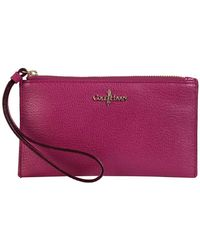 Cole Haan Leather Mini Wristlet Pouch - Lyst