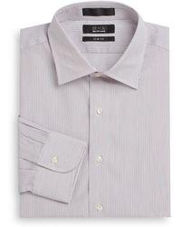 Saks Fifth Avenue Black Label Striped Cotton Slim-Fit Dress Shirt - Lyst