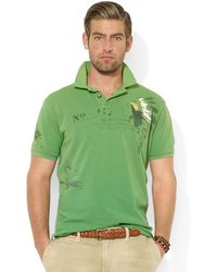 Ralph Lauren Polo Customfit Printed Mesh Polo - Lyst