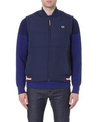 Fred Perry Laurel Wreath-embroidered Quilted Gilet - Lyst