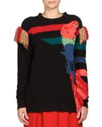 Sonia Rykiel   Parrot Jacquard Cashmere Sweater   Lyst