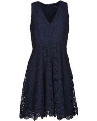 French Connection Blue Short Dress - Lyst