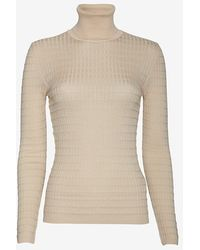 M Missoni Textured Knit Turtleneck - Lyst