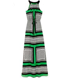 Vince Camuto Graphic Print Maxi Dress - Lyst