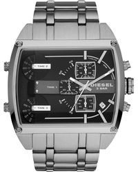 Diesel Mens Chronograph Mega Tank Stainless Steel Bracelet Watch 53mm - Lyst