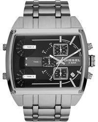 Diesel Mens Chronograph Mega Tank Stainless Steel Bracelet Watch 53mm - Lyst