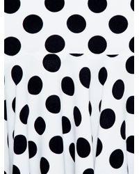 Dolce & Gabbana Polka Dot Crepe Dress - Lyst