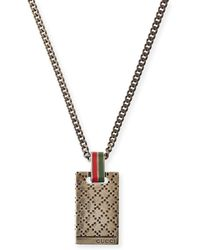gucci necklace mens. gucci | mens diamantissima necklace lyst