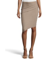Halston Heritage Tuck-detailed Asymmetric Pencil Skirt - Lyst