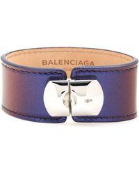 Balenciaga Padlock Patent Leather Bracelet - Lyst