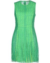 Christopher Kane Knee-Length Dress green - Lyst