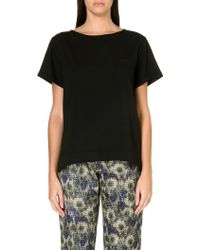 French connection Polly Plains Tshirt with Pocket Black - Lyst