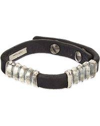 Rick Owens - Corregated Leather Bracelet - Lyst