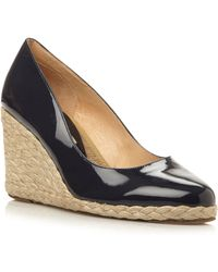 Pied A Terre Annato Patent Wedge Espadrille Court Shoes - Lyst