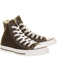 Converse All Star Hi Lthr - Lyst