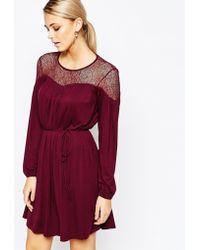 Oasis | Lace Detail Dress | Lyst