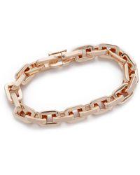 Eddie Borgo - Small Link Bracelet - Rose Gold - Lyst