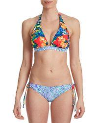 985548d7d5 San Lorenzo Loop Strap Thong Bikini Bottoms - Lyst