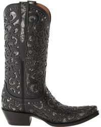 Lucchese boots knee boots flat boots - Lyst