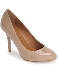 Chinese Laundry 'Palace' Almond Toe Pump brown - Lyst