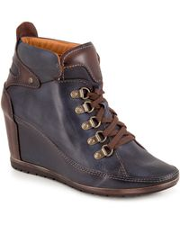 Pikolinos - Amsterdam Leather Wedge Boots - Lyst