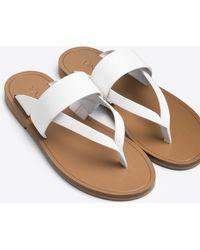 Vince | Tess Leather Sandal | Lyst