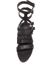 Frēda Salvador - Fly Calfskin Leather Sandals - Lyst