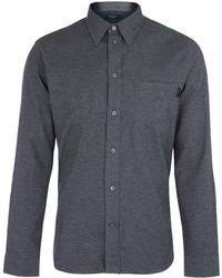 Paul Smith Grey Flannel Cotton Shirt - Lyst