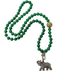 CB Bronfman | Diamond Elephant Bead Necklace | Lyst